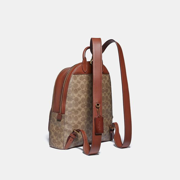 Carrie Backpack In Signature Canvas, B4/TAN RUST, hi-res