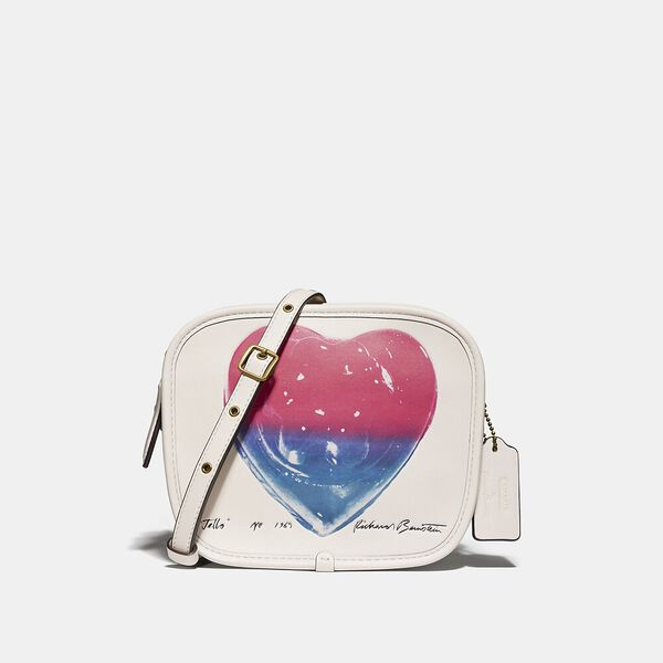 Coach X Richard Bernstein Zip Pouch With Jello Heart