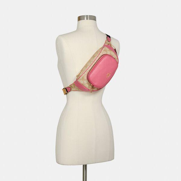 Court Belt Bag In Signature Canvas, IM/LIGHT KHAKI/CONFETTI PINK, hi-res
