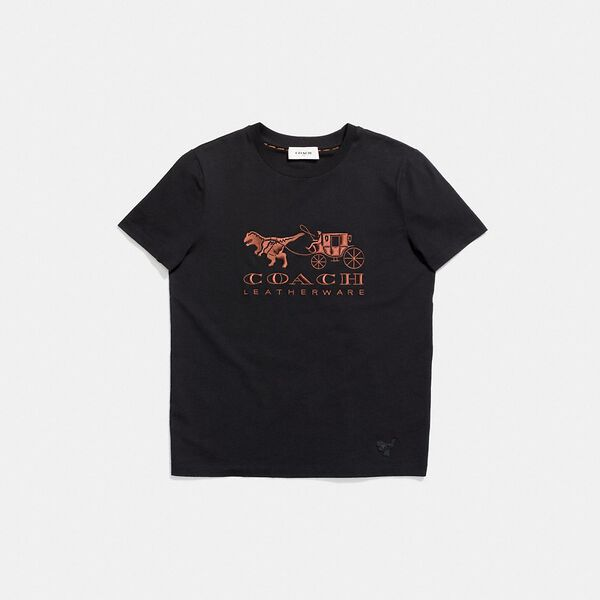 Rexy And Carriage T-Shirt, BLACK, hi-res