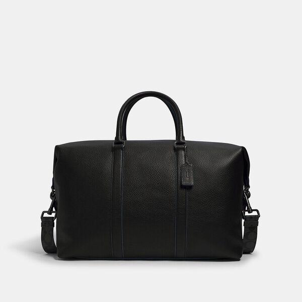 Trekker Bag With Signature Canvas Strap, QB/BLACK BLUE JAY, hi-res