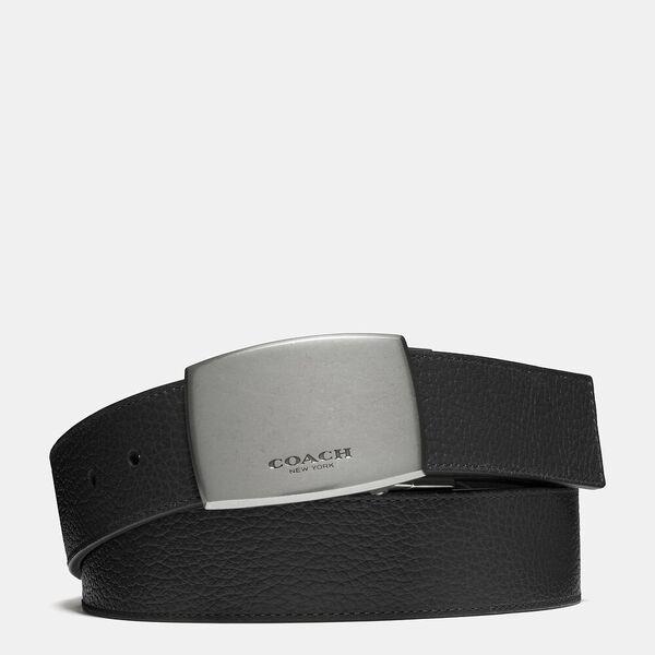 Plaque Buckle Cut-To-Size Reversible Belt, 38mm