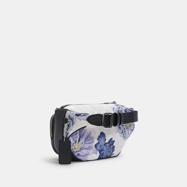 Court Belt Bag In Signature Canvas With Kaffe Fassett Print, SV/CHALK MULTI, hi-res