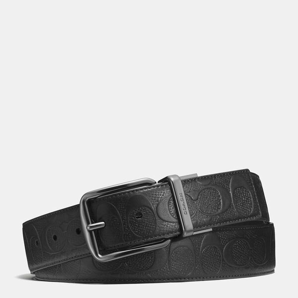 Harness Buckle Cut-To-Size Reversible Belt, 38Mm, BLACK, hi-res