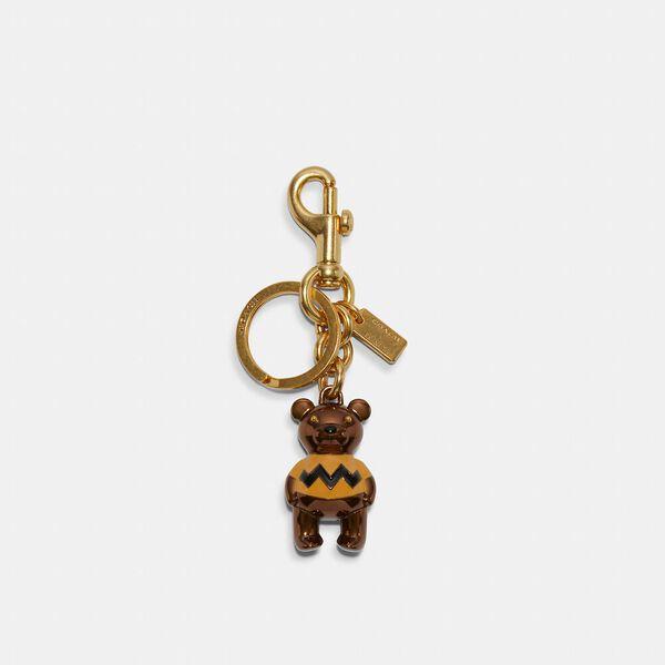 Coach X Peanuts Charlie Brown Bear Bag Charm