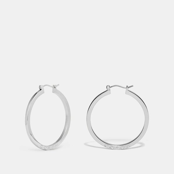 Hoop Earrings, SILVER, hi-res
