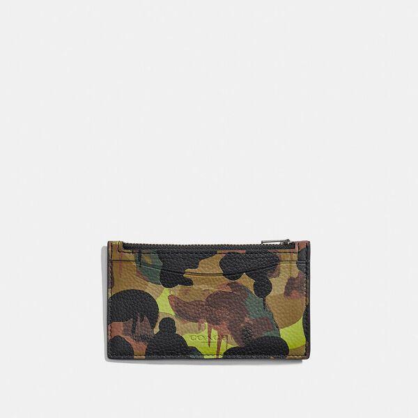 Zip Card Case With Camo Print