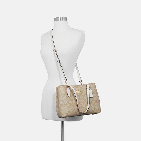 Mini Avenue Carryall In Signature Canvas, IM/KHAKI/CHALK, hi-res