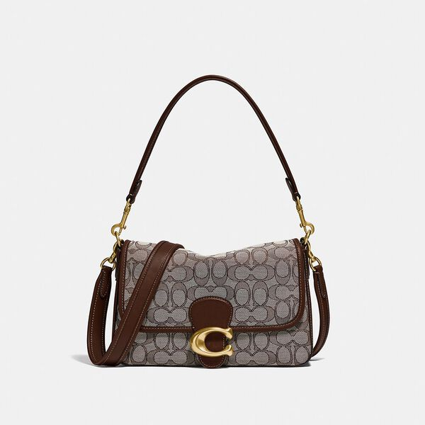 Soft Tabby Shoulder Bag In Signature Jacquard