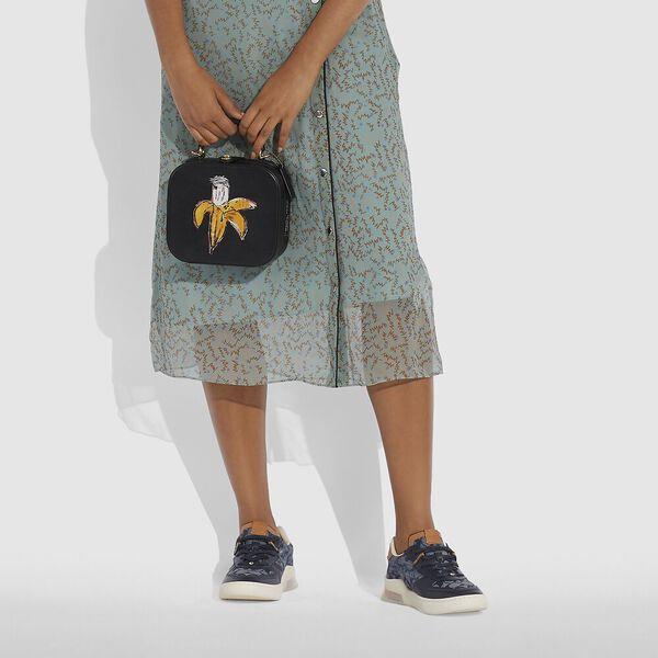 Coach X Basquiat Brown Spots City Blocks Square Bag, B4/BLACK, hi-res