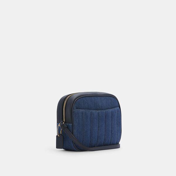 Mini Camera Bag With Quilting, IM/DENIM MULTI, hi-res