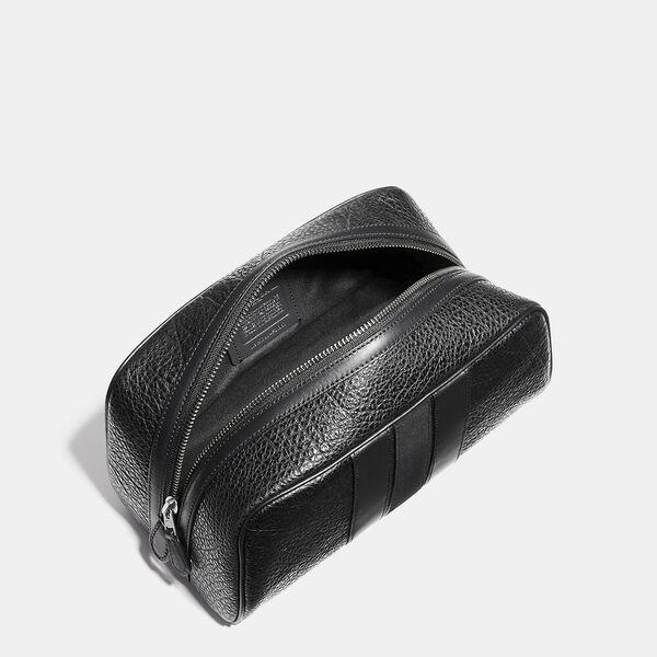Travel Kit With Varsity Stripe, BLACK, hi-res