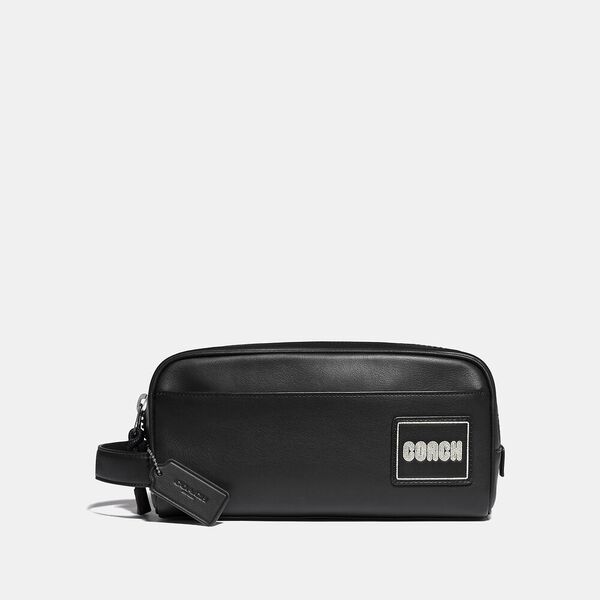 Travel Kit With Coach Patch, BLACK, hi-res