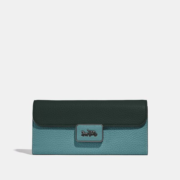 Alie Wallet In Colorblock, V5/RETRO TEAL MULTI, hi-res