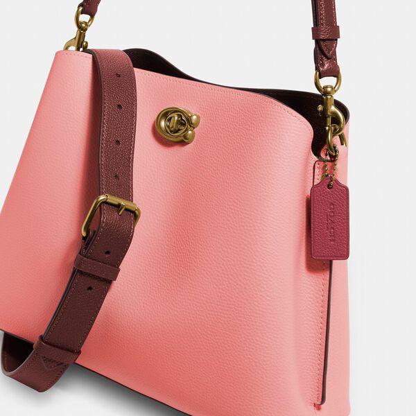 Willow Shoulder Bag In Colorblock, B4/CANDY PINK MULTI, hi-res