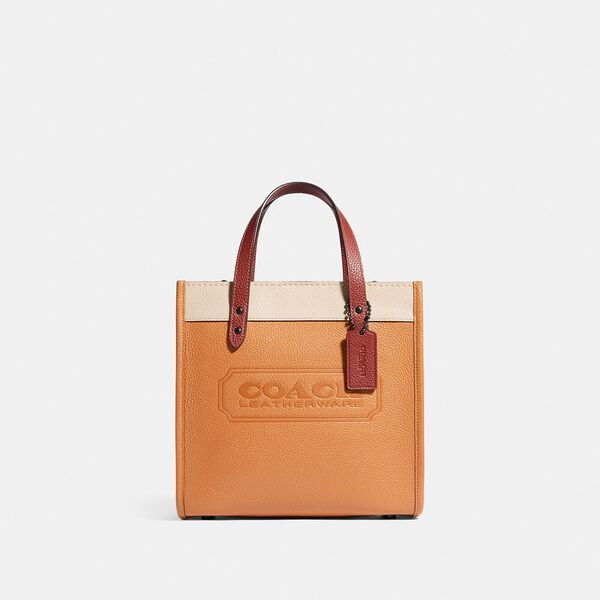 Field Tote 22 In Colorblock With Coach Badge And Whipstitch