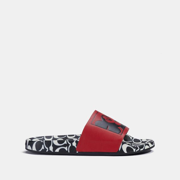 Disney Mickey Mouse X Keith Haring Slide, RED/BLACK, hi-res