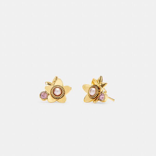 Wildflower Stud Earrings, GOLD, hi-res