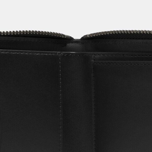 Medium Zip Around Wallet In Signature Canvas, QB/CHARCOAL, hi-res