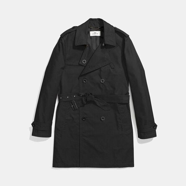 Trench Coat, BLACK, hi-res