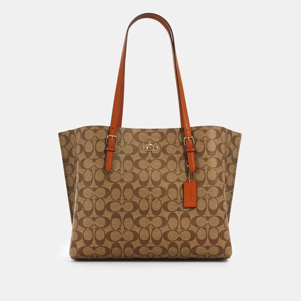 Mollie Tote In Signature Canvas, IM/KHAKI SEDONA, hi-res