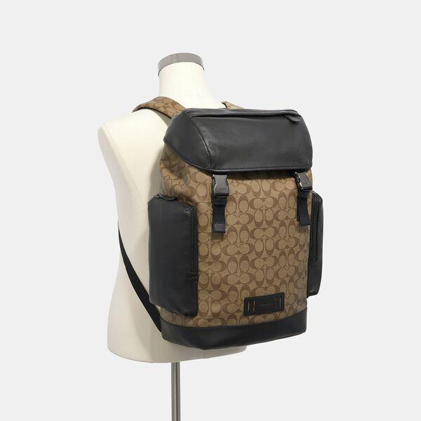 Ranger Backpack In Signature Canvas, QB/TAN, hi-res