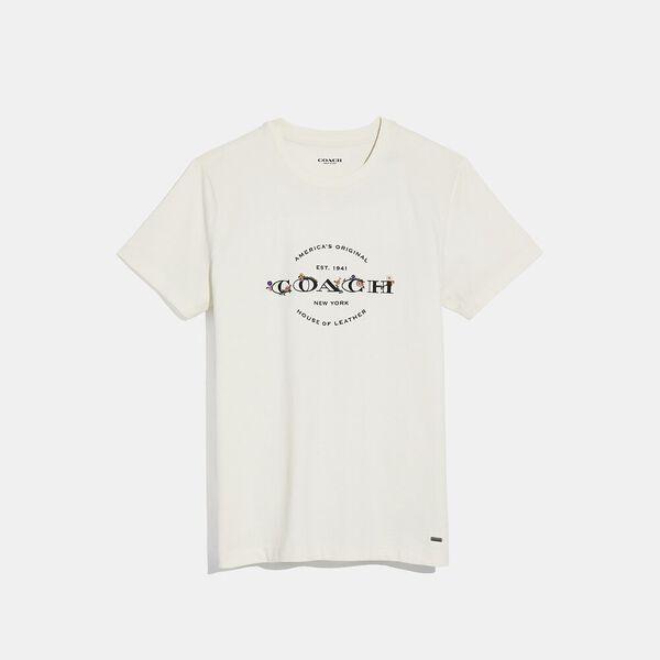 Coach T-Shirt, WHITE, hi-res