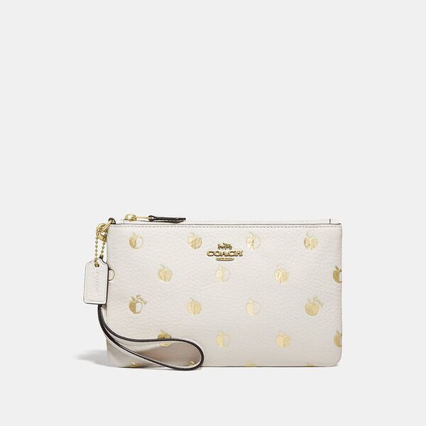Small Wristlet With Apple Print