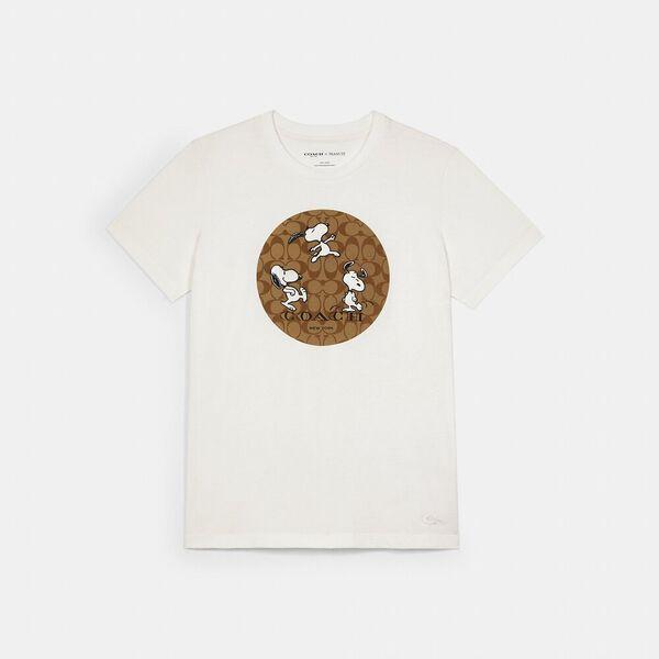 Coach X Peanuts Snoopy Signature T-Shirt, WHITE, hi-res