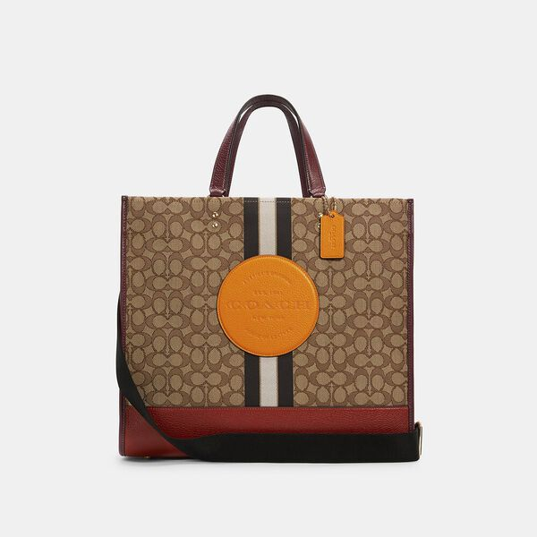 Dempsey Tote 40 In Signature Jacquard With Stripe And Patch