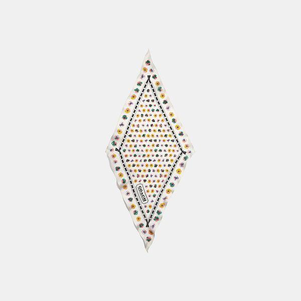 Painted Tea Rose Floral Print Silk Diamond Scarf, CHALK/FADED BLUSH, hi-res