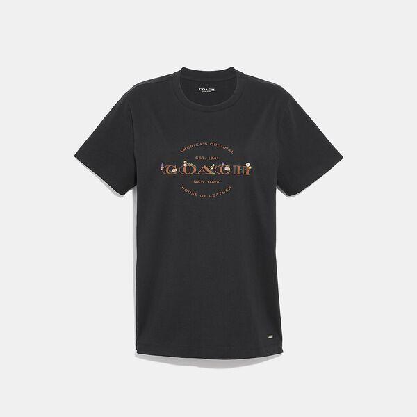 Coach T-Shirt, BLACK, hi-res