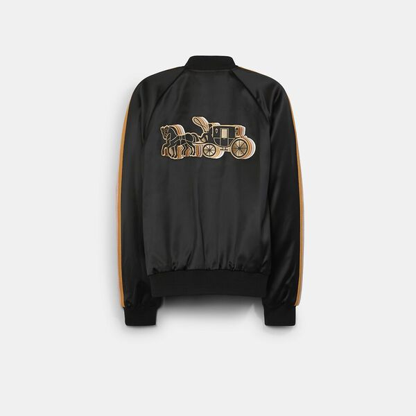 Reversible Souvenir Jacket With Horse And Carriage, KHAKI MULTI, hi-res