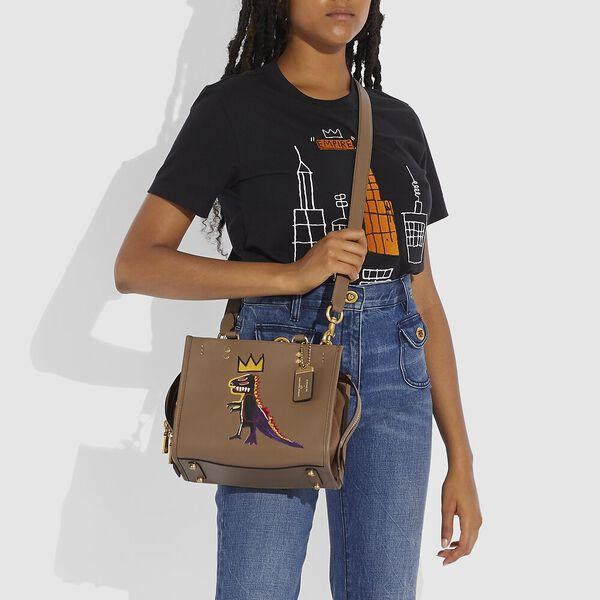 Coach X Basquiat Pez Dispenser With Suede Gusset Rogue Bag 25, B4/ELM, hi-res
