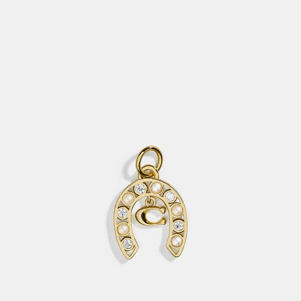 Collectible Horseshoe Signature Charm, SILVER/GOLD, hi-res