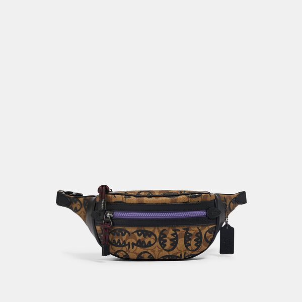 Vale Belt Bag In Signature Canvas With Rexy By Guang Yu, QB/KHAKI BLACK MULTI, hi-res