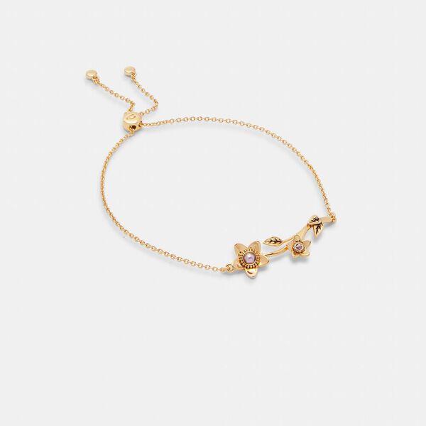 Wildflower Pearl Slider Bracelet, GOLD, hi-res
