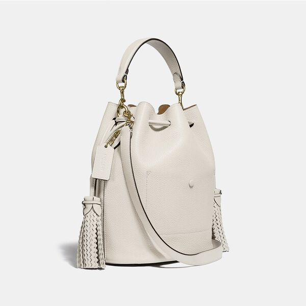 Lora Bucket Bag With Whipstitch Detail, B4/CHALK, hi-res