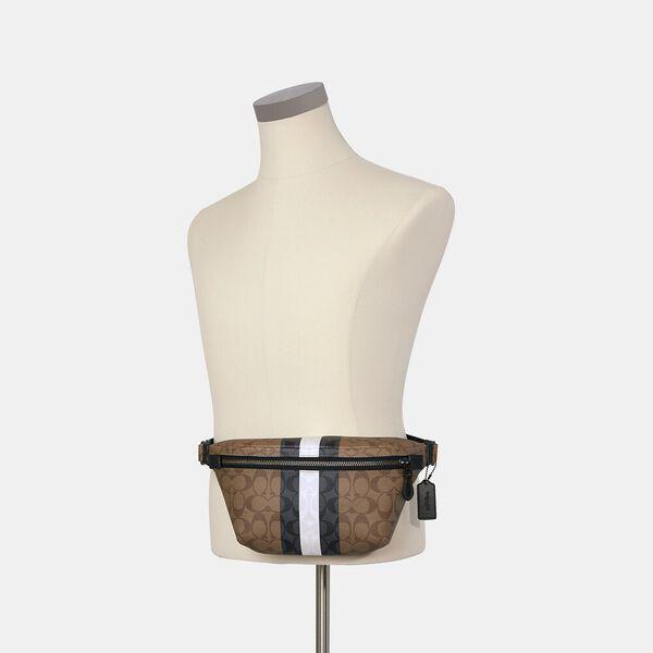 Grade Belt Bag In Signature Canvas With Varsity Stripe, QB/KHAKI MULTI, hi-res