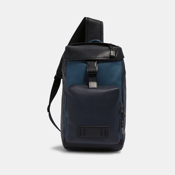 Ranger Pack With Signature Canvas Pieced Patchwork, QB/NAVY/REEF BLUE MULTI, hi-res