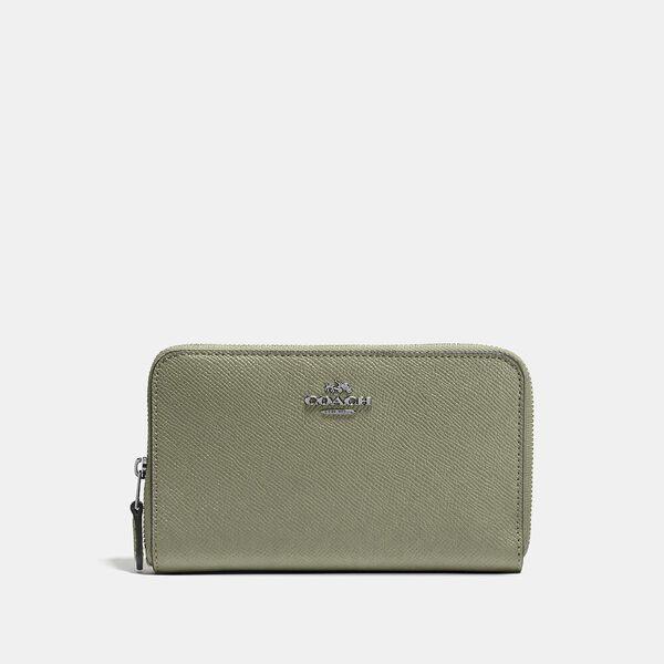 Medium Zip Around Wallet, V5/LIGHT FERN, hi-res