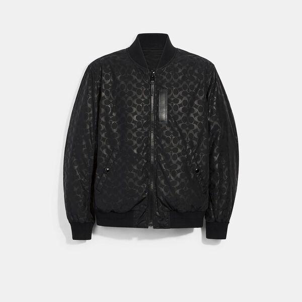 Signature Ma-1 Jacket, BLACK, hi-res