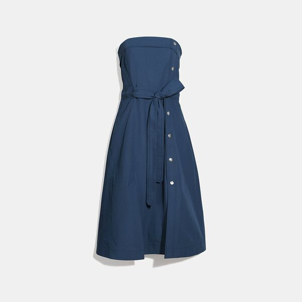 Tie Waist Midi Dress With Side Snaps, NAVY, hi-res