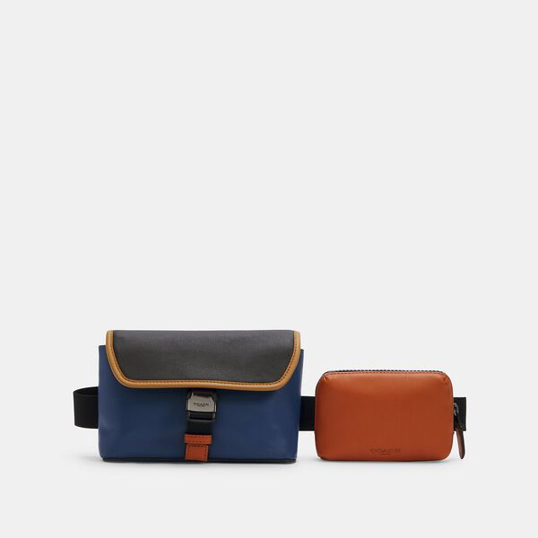 Rider Double Belt Bag In Colorblock