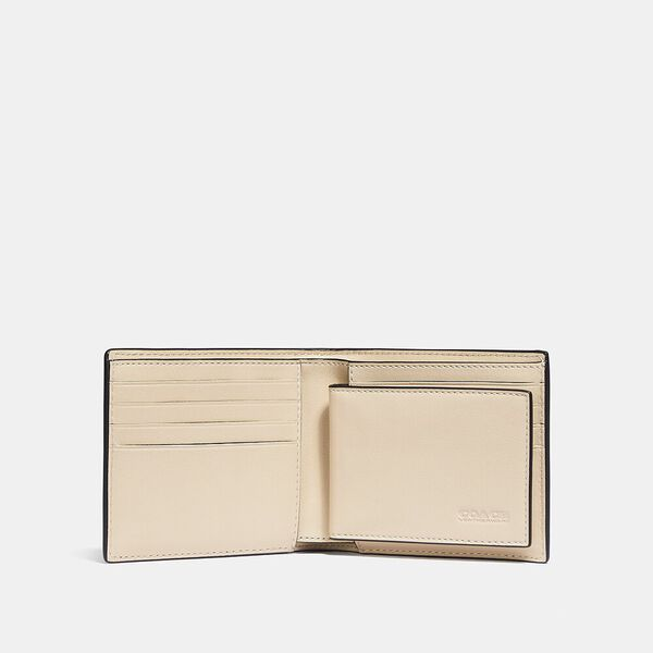 3-In-1 Wallet With Weaving, IVORY, hi-res