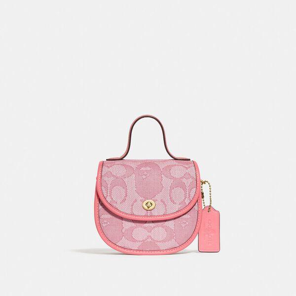 BAPE x Coach Mini Top Handle Saddle Bag In Signature Jacquard