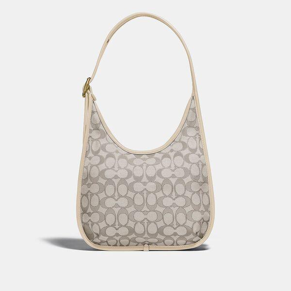 Ergo Shoulder Bag In Signature Jacquard, B4/STONE IVORY, hi-res