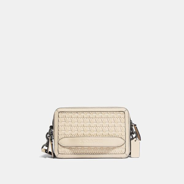 Charter Crossbody With Weaving, IVORY, hi-res