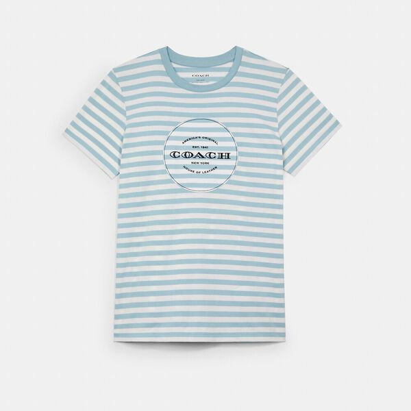 All Over Stripe T-Shirt, CONCRETE WHITE/STERLING BLUE, hi-res