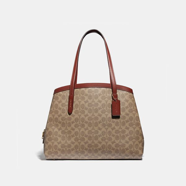 Charlie Carryall 40 In Signature Canvas, B4/TAN RUST, hi-res